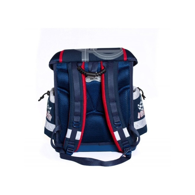 36080455f detailná fotka zobrazuje ten istý tovar, len s iným motívom. Ergonomicky  tvarovaná exkluzívna školská taška BELMIL.